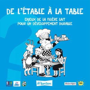 De l'étable à la table, enjeux de la filière lait pour un développement durable est un livret associé à l'expo-quiz® De l'étable à la table, qui peut être utilisé indépendamment de l'expo-quiz®.