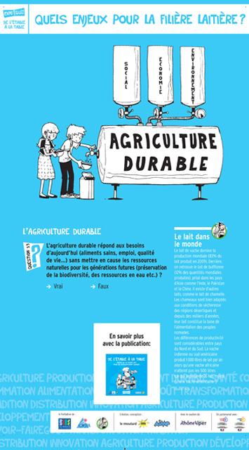 11Agriculture durable - Filière laitière - Exposition