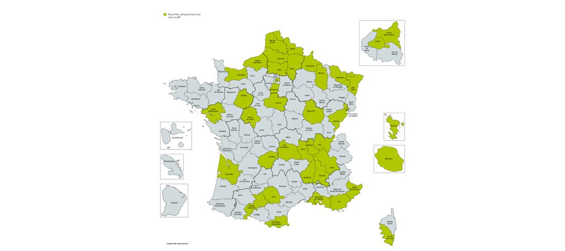 On retrouve actuellement les expo-quiz du Moutard dans une quarantaine de départements en France.