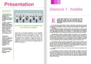 Début 2018, le lycée Jean Puy à Roanne (42) a accueilli l'expo-quiz® « Égalité filles-garçons, parlons-en ! ». Les élèves de 2nde 5 ont écrit des discours sur l'égalité filles-garçons et les ont rassemblés dans un numéro spécial du journal de leur lycée.