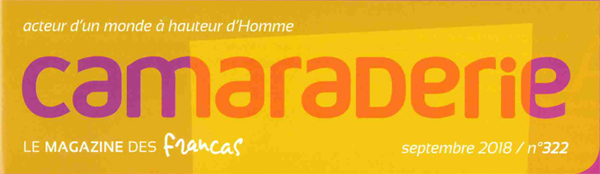 """Camaraderie, le magazine des Francas, parle de """"De l'école au collège, parlons-en !""""."""