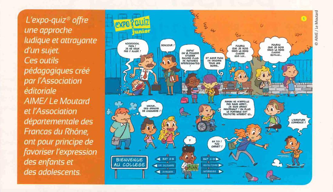"""11Camaraderie, le magazine des Francas, parle de """"De l'école au collège, parlons-en !""""."""