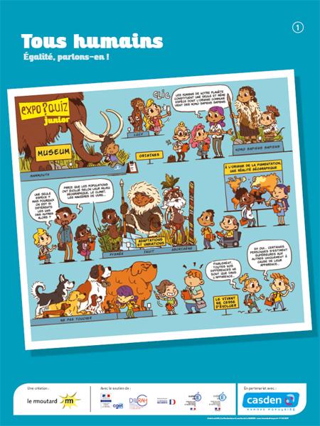 Ce kit ludo-éducatif est composé de cinq posters accompagnés de cinq fiches d'activités et d'un Guide pratique d'utilisation.