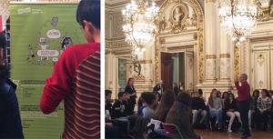 Une soixantaine de collégiens s'est rencontrée pour échanger sur la France, ses valeurs, sa mixité, la citoyenneté, etc. La matinée a été animée par les Francas du Rhône qui ont fait émerger les questions, les remarques et les idées des collégiens.
