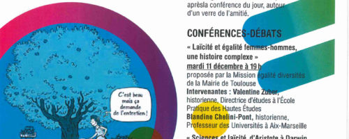 """Notre nouvelle expo-quiz®, """"La laïcité, parlons-en !"""", sera exposée du 8 au 21 décembre 2018 à l'Espace diversités laïcité de la Mairie de Toulouse (31)."""